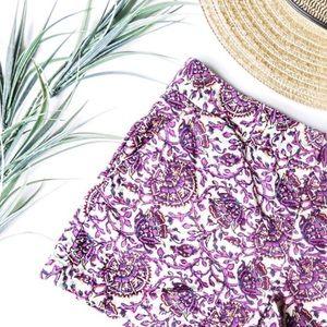 LOFT Floral Print Shorts